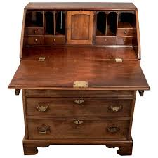 antique writing desk bureau chest georgian mahogany quality