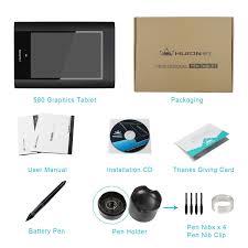 amazon com huion 8 x 5 graphic drawing tablet pen pressure 2048
