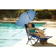 2 Position Camp Chair With Footrest Sport Brella Recliner Chair Midnight Blue Walmart Com