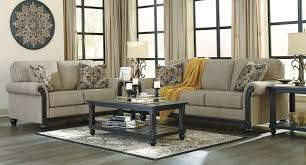 blackwood taupe living room set signature design furniture cart
