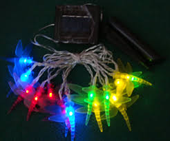 Dragonfly String Lights by Solar Dragonfly Led String Light Holiday Lighting 10 Jpg