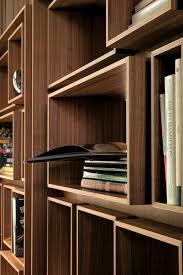 Walnut Bookshelves Contemporary Bookcase Walnut First By G Carollo Porada