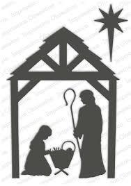 christmas manger impression obsession manger christmas nativity die die199 yy