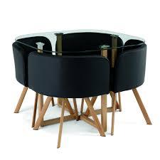 table avec chaise encastrable ensemble chaise et table 10468 4 chaises encastrable noir flen