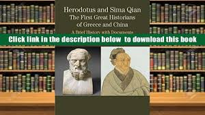 download herodotus and sima qian the first great historians of