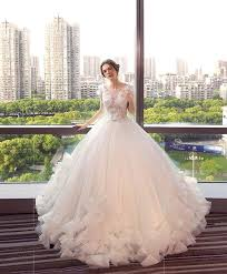 white neck tulle lace wedding dress white wedding