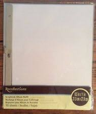 recollections photo album refills recollections scrapbooking albums refills ebay