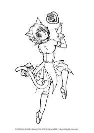 ichigo momomiya coloring page more tokyo mew mew coloring pages