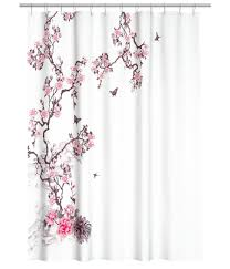 Dainty Home Flamenco Ruffled Shower Curtain Amazon Com Water Repellent Fabric Shower Curtain Botanical