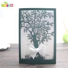 online shop latest wedding card designs heart invitaiton card tree