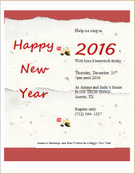 happy new year invitation new year party invitation card template word excel templates
