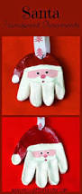 santa handprint ornaments santa handprint ornament santa