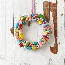Upcycle Crafts - upcycled spool wreath u2014 totally green crafts