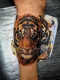 amazing tiger on arm tattoomagz