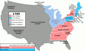 map of the us states in 1865 states and free states