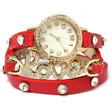 bracelet fashion watches images Women fashion retro crystal pu leather love bracelet chain wrist jpg