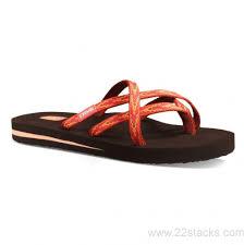 ireland women u0027s teva olowahu softground orange sandals shoes