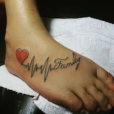 photos of inspiring heartbeat tattoos