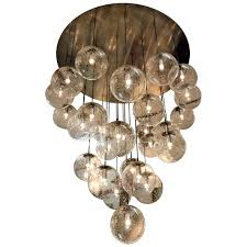 Chandelier With White Shade Interior Rustic Glass Ball Chandelier With White Shade And Wooden