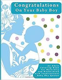 congratulations baby boy coloring book