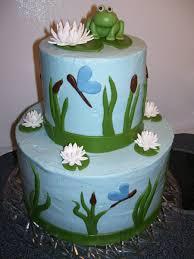 frog baby shower frog babyshower cake cakecentral