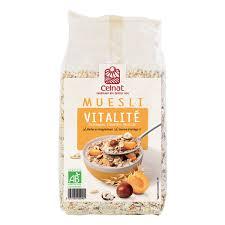 cuisine bio vitalité muesli vitalité bio 375g celnat acheter sur greenweez com