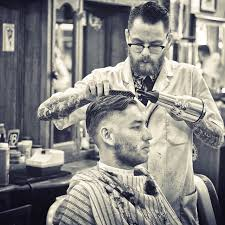beer and haircuts from the 1920s have a shot a beer and get the best haircut of your life
