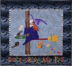 t drink and fly witch halloween quilt pattern eat cake graphics
