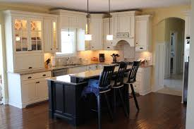 kitchen brown wooden island with gallery including colored islands