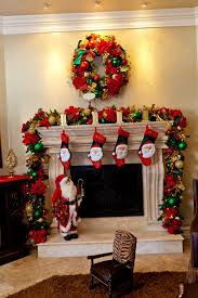 decorate fireplace for christmas home design ideas
