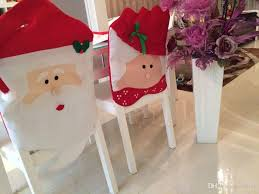 santa chair covers christmas chair covers mr mrs santa claus christmas