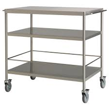 ikea rolling cart flytta kitchen trolley stainless steel 98x57 cm ikea