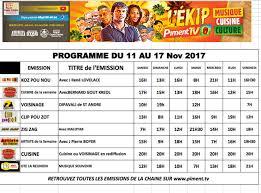 emission tv de cuisine 11 au 17 novembre