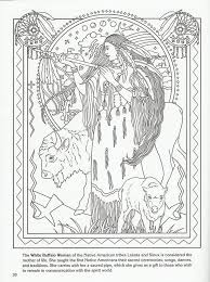 white buffalo woman native american goddess challenging coloring