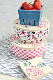 House Warming Gift Idea by Stenciled Food Storage Containers Handmade Gift Idea The Cards