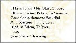 cinderella s glass slipper sentimental messages poem