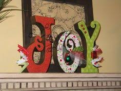 use standing wooden letters to make decoration
