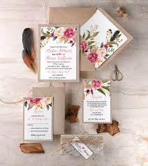 wedding invitations kerry watercolor floral rustic wedding invitations rustic lace wedding