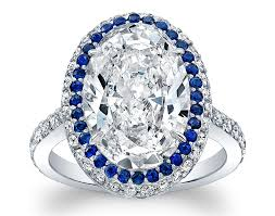 sapphire accent engagement rings friday 5 engagement rings with sapphire accents jck
