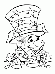 funny bunny 4th of july coloring page for kids coloring pages