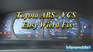 toyota abs vcs easy wierd fix p0420 youtube