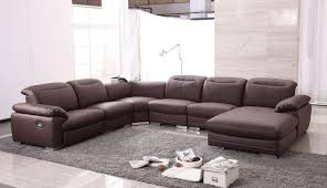 Grey Leather Reclining Sofa by Reclining Sofas