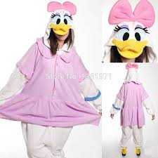 Donald Daisy Duck Halloween Costumes Winter Women Adults Animal Pink Yellow Donald Font Daisy Font Font Duck Jpg
