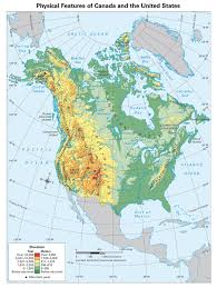 Map Of Canada And Us Physical Map Of Canada Ezilon Maps Gms 6th Grade Social Studies