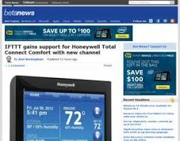 Total Connect Comfort Honeywell Honeywell Ifttt Gains Support For Honeywell Total Connect