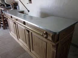 plan de travail cuisine en zinc création autour du zinc