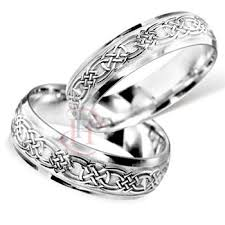 celtic wedding ring sets celtic matching wedding band set palladium wedding rings