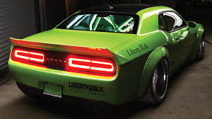 widebody muscle cars dub magazine project hulk liberty walk challenger