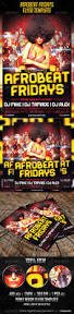 afrobeat fridays flyer template flyer template party flyer and
