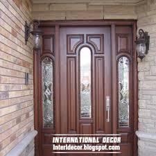 Wooden Door Design Classic Wood Doors Designs Colors Wood Doors With Glass Sides